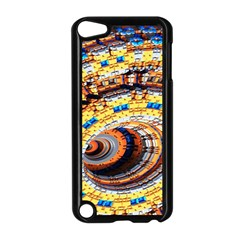 Complex Fractal Chaos Grid Clock Apple iPod Touch 5 Case (Black)
