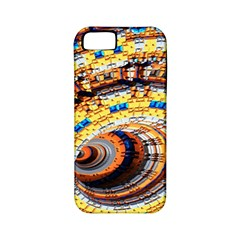 Complex Fractal Chaos Grid Clock Apple Iphone 5 Classic Hardshell Case (pc+silicone)