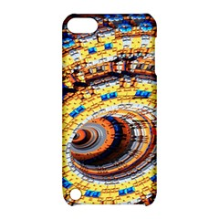 Complex Fractal Chaos Grid Clock Apple iPod Touch 5 Hardshell Case with Stand