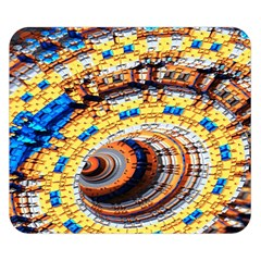 Complex Fractal Chaos Grid Clock Double Sided Flano Blanket (Small)