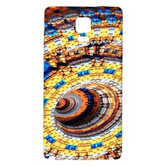 Complex Fractal Chaos Grid Clock Galaxy Note 4 Back Case