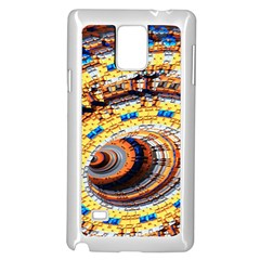 Complex Fractal Chaos Grid Clock Samsung Galaxy Note 4 Case (white)