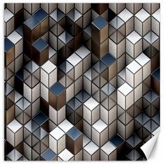 Cube Design Background Modern Canvas 12  x 12
