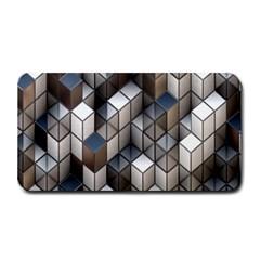 Cube Design Background Modern Medium Bar Mats