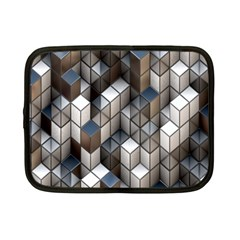 Cube Design Background Modern Netbook Case (Small)