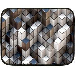 Cube Design Background Modern Double Sided Fleece Blanket (Mini)