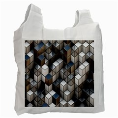 Cube Design Background Modern Recycle Bag (One Side)