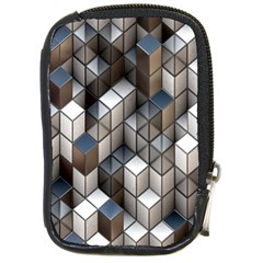 Cube Design Background Modern Compact Camera Cases
