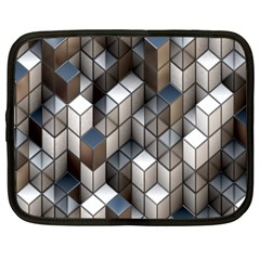 Cube Design Background Modern Netbook Case (XL)