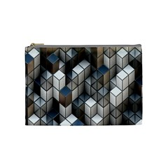 Cube Design Background Modern Cosmetic Bag (Medium)