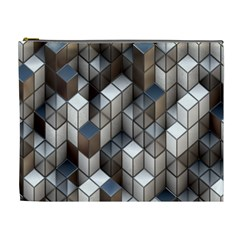 Cube Design Background Modern Cosmetic Bag (XL)