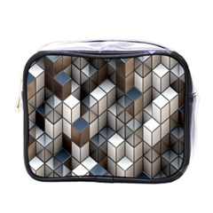 Cube Design Background Modern Mini Toiletries Bags