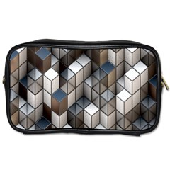 Cube Design Background Modern Toiletries Bags