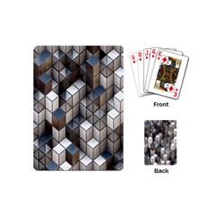 Cube Design Background Modern Playing Cards (Mini)