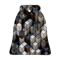 Cube Design Background Modern Ornament (Bell)