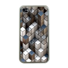 Cube Design Background Modern Apple Iphone 4 Case (clear)