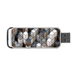 Cube Design Background Modern Portable USB Flash (Two Sides)