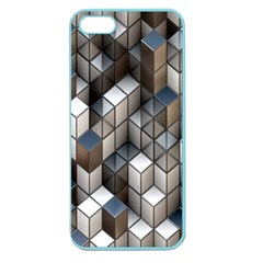 Cube Design Background Modern Apple Seamless Iphone 5 Case (color)