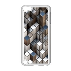 Cube Design Background Modern Apple iPod Touch 5 Case (White)