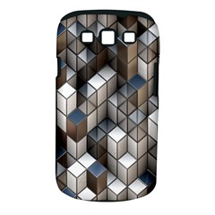 Cube Design Background Modern Samsung Galaxy S Iii Classic Hardshell Case (pc+silicone)