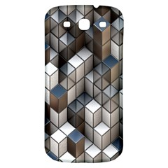 Cube Design Background Modern Samsung Galaxy S3 S III Classic Hardshell Back Case