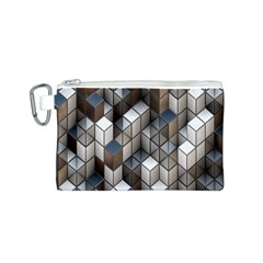 Cube Design Background Modern Canvas Cosmetic Bag (s)