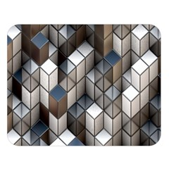 Cube Design Background Modern Double Sided Flano Blanket (Large)
