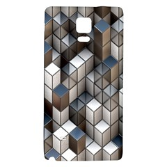 Cube Design Background Modern Galaxy Note 4 Back Case