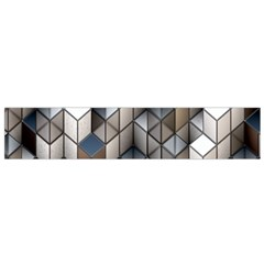 Cube Design Background Modern Flano Scarf (Small)
