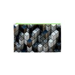 Cube Design Background Modern Cosmetic Bag (xs)