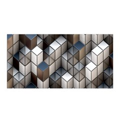 Cube Design Background Modern Satin Wrap