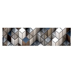 Cube Design Background Modern Satin Scarf (Oblong)