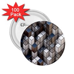 Cube Design Background Modern 2.25  Buttons (100 pack)