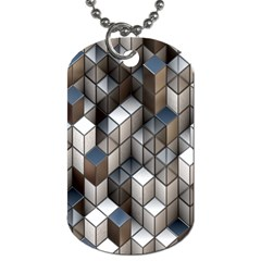 Cube Design Background Modern Dog Tag (Two Sides)