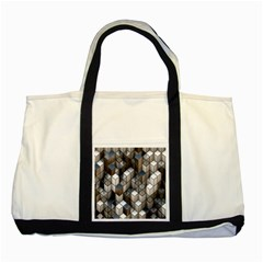 Cube Design Background Modern Two Tone Tote Bag