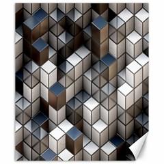 Cube Design Background Modern Canvas 20  X 24