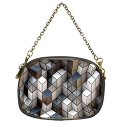Cube Design Background Modern Chain Purses (One Side)