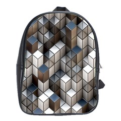 Cube Design Background Modern School Bags(Large)
