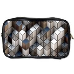 Cube Design Background Modern Toiletries Bags