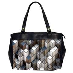 Cube Design Background Modern Office Handbags (2 Sides)