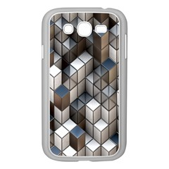 Cube Design Background Modern Samsung Galaxy Grand Duos I9082 Case (white)