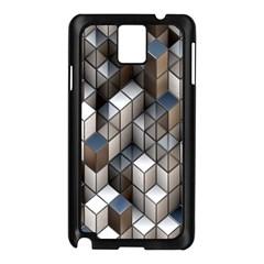 Cube Design Background Modern Samsung Galaxy Note 3 N9005 Case (black)