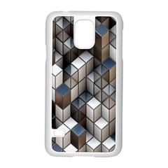 Cube Design Background Modern Samsung Galaxy S5 Case (white)