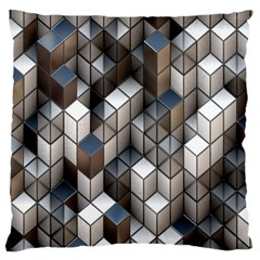 Cube Design Background Modern Standard Flano Cushion Case (Two Sides)