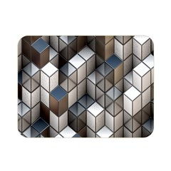 Cube Design Background Modern Double Sided Flano Blanket (mini)