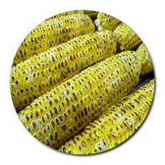 Corn Grilled Corn Cob Maize Cob Round Mousepads