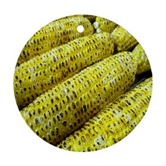Corn Grilled Corn Cob Maize Cob Ornament (round)