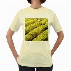 Corn Grilled Corn Cob Maize Cob Women s Yellow T Shirt