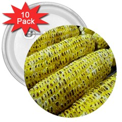 Corn Grilled Corn Cob Maize Cob 3  Buttons (10 Pack)
