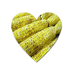 Corn Grilled Corn Cob Maize Cob Heart Magnet